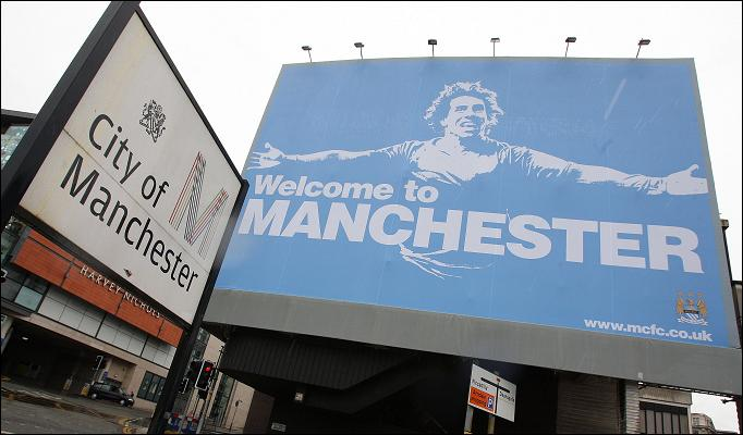 Carlos Tevez welcome billboard