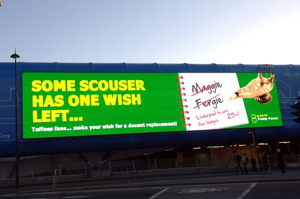 Paddy Power Liverpool billboard