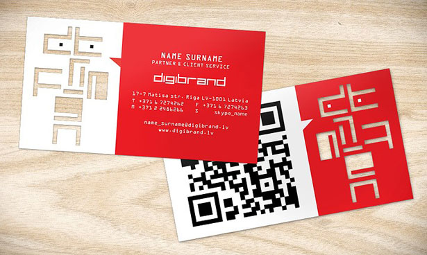 QR Code Business Cards - Digital Printing