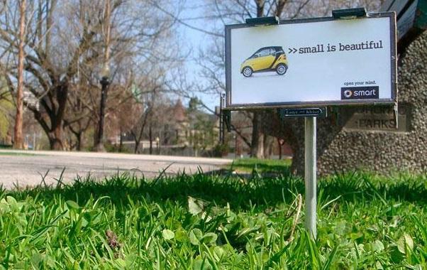 Smart Car billboard