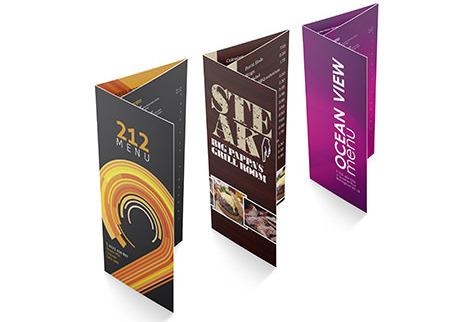 Roll fold leaflet - digital printing