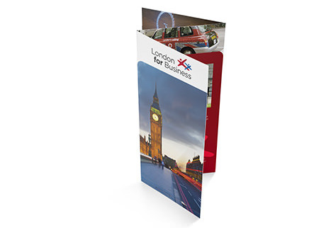 Accordion fold leaflet - digital printing