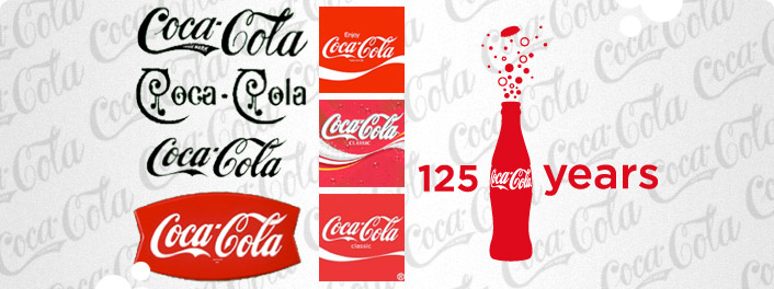 Logos in Print - Coca Cola Logo 125 Years - Digital Printing