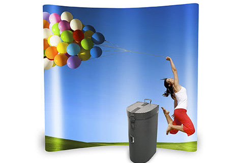 Curved Pop Up Stand - Carry Case - Digital Printing