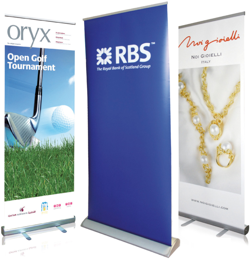 Pop up banner stands - digital printing