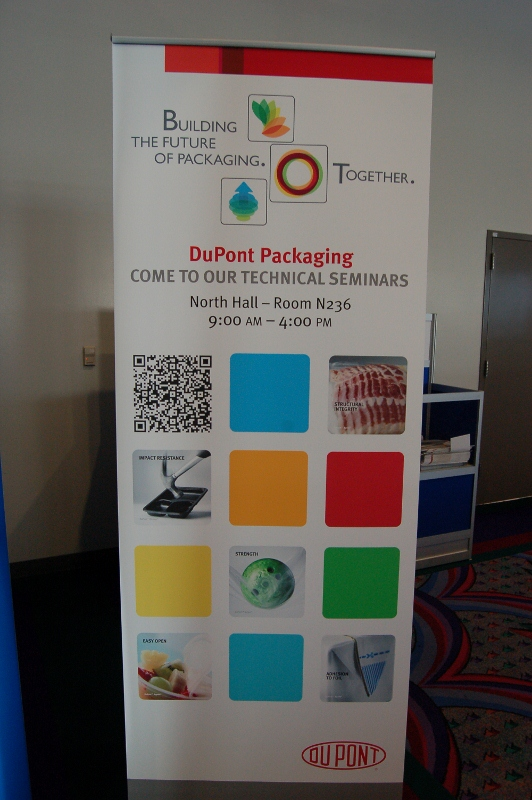 Banner stand QR code - digital printing