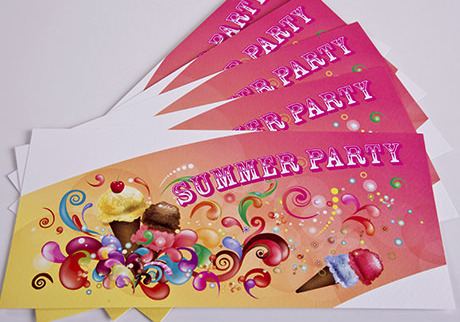 Colourful invites - Digital Printing