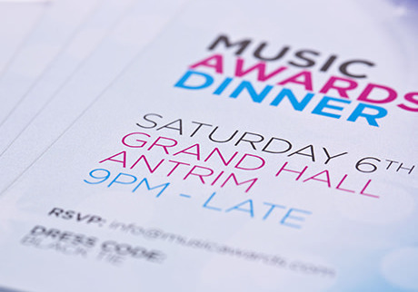 Text on invites - Digital Printing