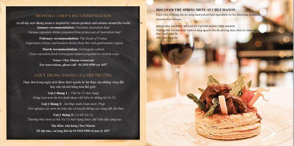 Hilton food brochure2 - Digital Printing Blog