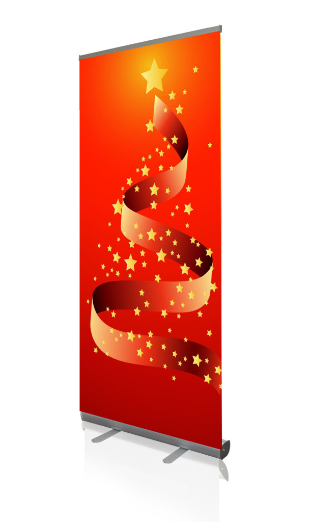 Christmas Roll Up Banner Stands - Digital Printing
