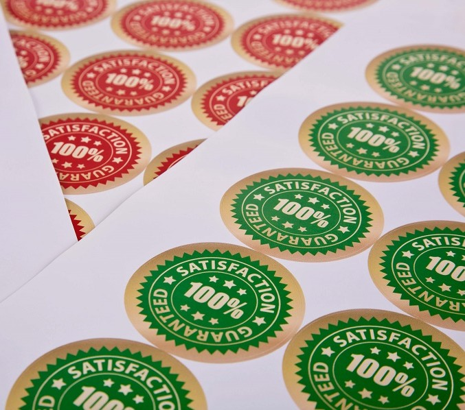 Personalise client gifts with custom stickers this Christmas