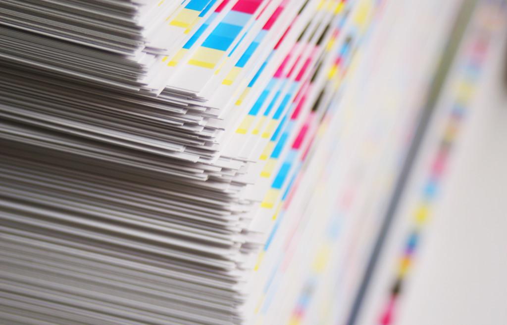 CMYK printing sheet color bars