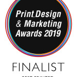 Digital Printing Nominated in the Print, Design & Marketing Awards 2019