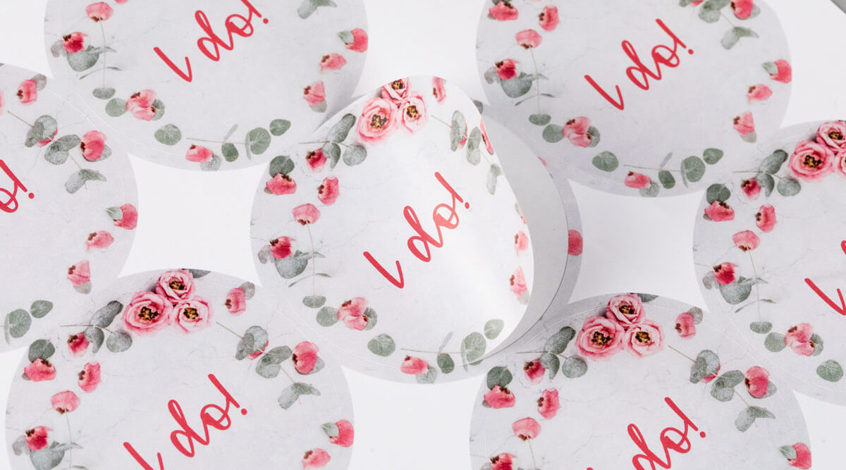 Premium Round Wedding Sticker