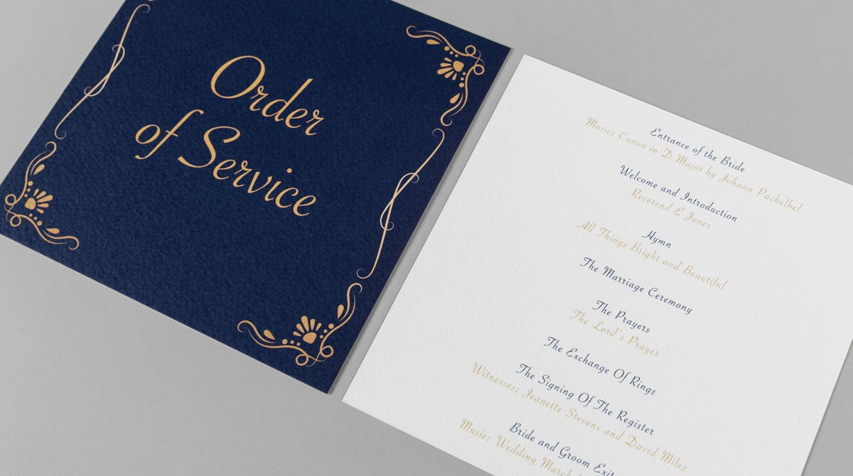 Digitally Printed Flat Order of Service