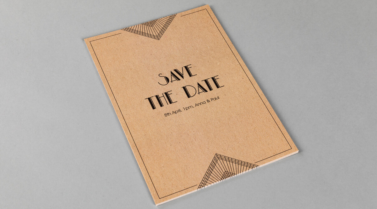 Flat Save the Date Cards