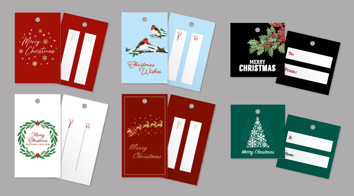 Traditional gift tags