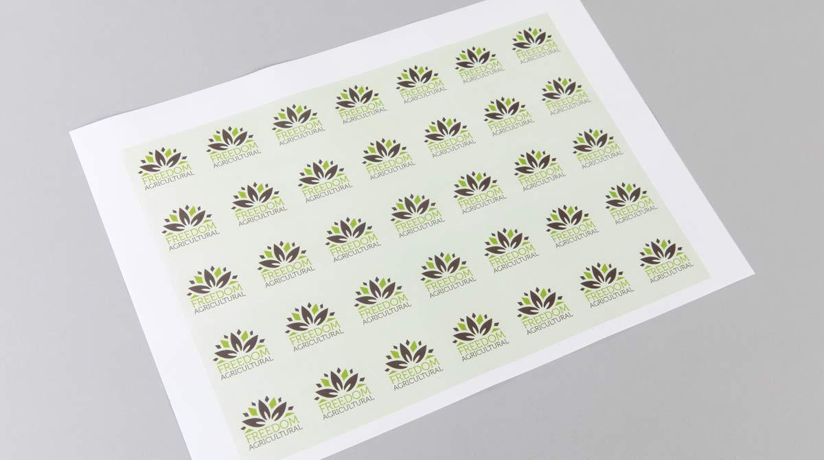 Stickers round or circular digital printing