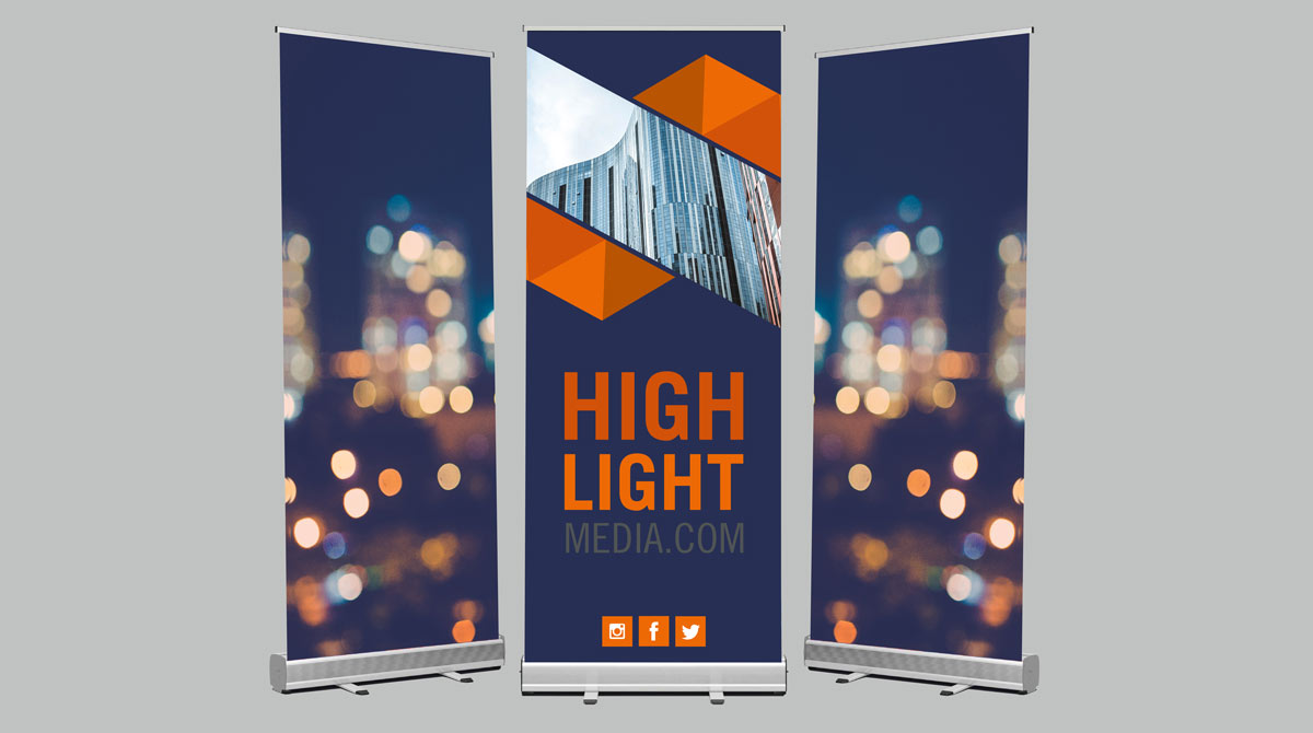 Image result for roll-up banner stands